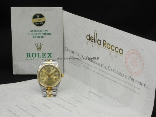 Rolex Datejust 36 Jubilee Champagne  Watch  1601