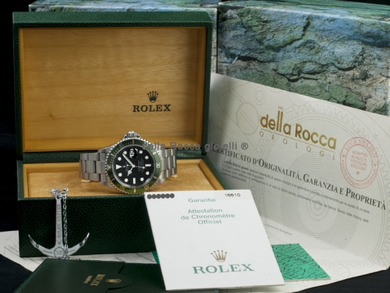 Rolex Submariner Date Green Bezel Fat Four Mark 1  Watch  16610LV