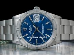 Rolex Date 34 Blu Oyster Klein Blue 15210