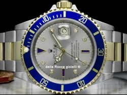 Rolex Submariner Date Sultan Grey Dial Diamonds Sapphires 16613